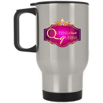 Queens create Queens Silver Stainless Travel Mug Drinkware- Warrior Design Co. | Quality Affordable Branding Solutions