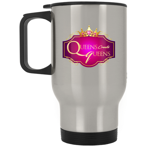Queens create Queens Silver Stainless Travel Mug - Warrior Design Co. | Quality Affordable Branding Solutions