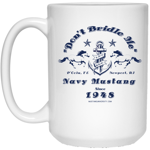 Mustang 15 oz. White Mug Drinkware- Warrior Design Co. | Quality Affordable Branding Solutions