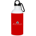 Jeremy Allen 20 oz. Stainless Steel Water Bottle Drinkware- Warrior Design Co. | Quality Affordable Branding Solutions
