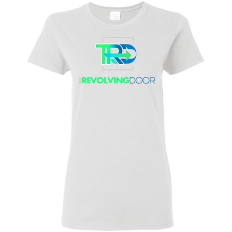 Revolving Door  Ladies' 5.3 oz. T-Shirt T-Shirts- Warrior Design Co. | Quality Affordable Branding Solutions