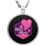Best Mom Ever Circle Necklace Jewelry- Warrior Design Co. | Quality Affordable Branding Solutions