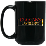 Duggan's Distillers 15 oz. Black Mug Drinkware- Warrior Design Co. | Quality Affordable Branding Solutions