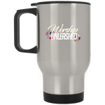 Worship Unleashed Silver Stainless Travel Mug Drinkware- Warrior Design Co. | Quality Affordable Branding Solutions