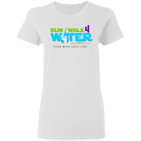 Run/Walk 4 Water Ladies' 5.3 oz. T-Shirt T-Shirts- Warrior Design Co. | Quality Affordable Branding Solutions