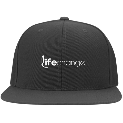 Life Change Flat Bill Cap Hats- Warrior Design Co. | Quality Affordable Branding Solutions