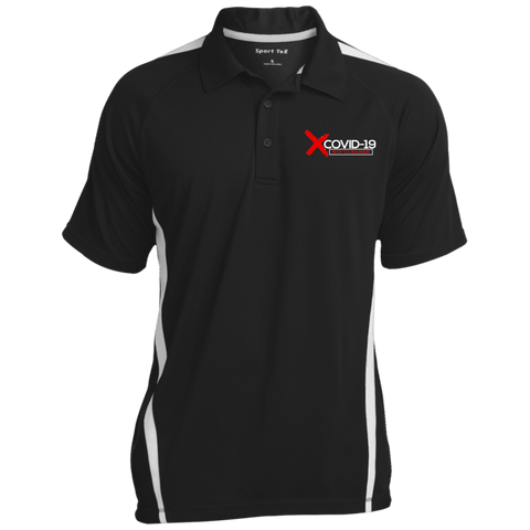 X Covid-19 Colorblock 3-Button Polo Polo Shirts- Warrior Design Co. | Quality Affordable Branding Solutions