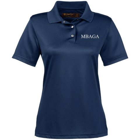 MBAGA Women's Performance Polo Polo Shirts- Warrior Design Co. | Quality Affordable Branding Solutions