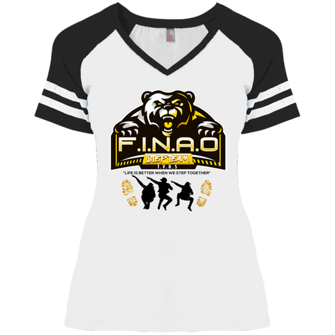 FINAO Women's V-Neck T-Shirt T-Shirts- Warrior Design Co. | Quality Affordable Branding Solutions