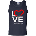 Love Conquers All  Men's Tank Top T-Shirts- Warrior Design Co. | Quality Affordable Branding Solutions