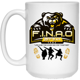 FINAO 15 oz. White Mug Drinkware- Warrior Design Co. | Quality Affordable Branding Solutions