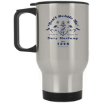 Mustang Silver Stainless Travel Mug - Warrior Design Co. | Quality Affordable Branding Solutions