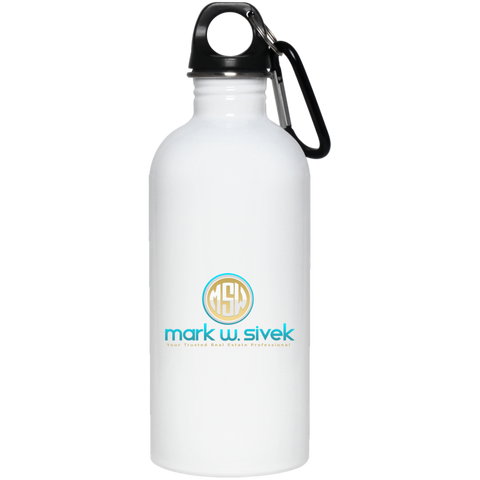Mark Sivek 20 oz. Stainless Steel Water Bottle Drinkware- Warrior Design Co. | Quality Affordable Branding Solutions