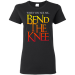 Bend the Knee Women's T-Shirt T-Shirts- Warrior Design Co. | Quality Affordable Branding Solutions