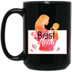 World's Best Mom 15 oz. Black Mug Drinkware- Warrior Design Co. | Quality Affordable Branding Solutions