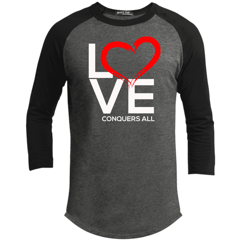 Love Conquers All  Sporty Men's T-Shirt T-Shirts- Warrior Design Co. | Quality Affordable Branding Solutions