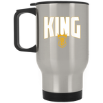 KING Silver Stainless Travel Mug Drinkware- Warrior Design Co. | Quality Affordable Branding Solutions