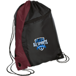 All Sports Recruiter Colorblock Cinch Pack Bags- Warrior Design Co. | Quality Affordable Branding Solutions