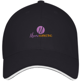 Moore Marketing Visor Hat Hats- Warrior Design Co. | Quality Affordable Branding Solutions