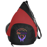 Life Change Outreach Active Sling Pack Bags- Warrior Design Co. | Quality Affordable Branding Solutions