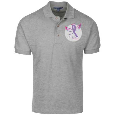 Angels of Las Vegas Men's Knit Polo Polo Shirts- Warrior Design Co. | Quality Affordable Branding Solutions