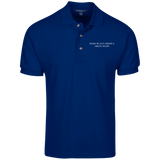 MBAGA Men's Knit Polo Polo Shirts- Warrior Design Co. | Quality Affordable Branding Solutions