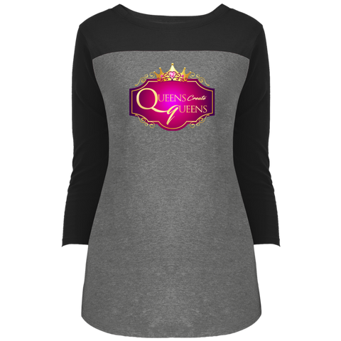 Queens Create Queens 3/4 Sleeve T-Shirt - Warrior Design Co. | Quality Affordable Branding Solutions