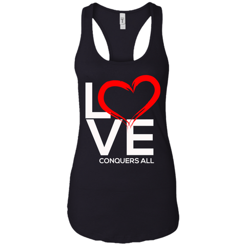 Love Conquers All Women's Tank T-Shirts- Warrior Design Co. | Quality Affordable Branding Solutions