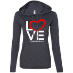 Love Conquers All Women's Hoodie T-Shirts- Warrior Design Co. | Quality Affordable Branding Solutions