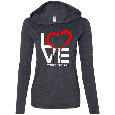 Love Conquers All Women's Hoodie - Warrior Design Co. | Quality Affordable Branding Solutions