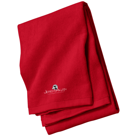 Jeremy Allen Beach Towel Towels- Warrior Design Co. | Quality Affordable Branding Solutions