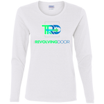 Revolving Door Ladies' Cotton LS T-Shirt T-Shirts- Warrior Design Co. | Quality Affordable Branding Solutions