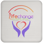 Life Change Outreach Coaster Drinkware- Warrior Design Co. | Quality Affordable Branding Solutions