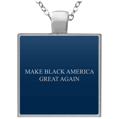 MBAGA Square Necklace Jewelry- Warrior Design Co. | Quality Affordable Branding Solutions