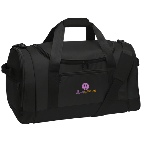 Moore Marketing Travel Sports Duffel Bags- Warrior Design Co. | Quality Affordable Branding Solutions