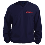 MBAGA Pullover V-Neck Windshirt Jackets- Warrior Design Co. | Quality Affordable Branding Solutions