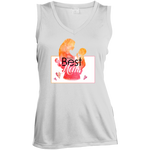 World's Best Mom Sleeveless Moisture Absorbing V-Neck T-Shirts- Warrior Design Co. | Quality Affordable Branding Solutions