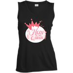 My Mom My Queen Sleeveless Moisture Absorbing V-Neck T-Shirts- Warrior Design Co. | Quality Affordable Branding Solutions