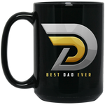 Best Dad Ever 15 oz. Black Mug Drinkware- Warrior Design Co. | Quality Affordable Branding Solutions
