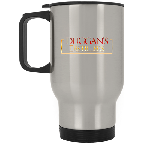 Duggan's Distillers Silver Stainless Travel Mug Drinkware- Warrior Design Co. | Quality Affordable Branding Solutions