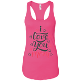 I Love You Mom Women's Tank T-Shirts- Warrior Design Co. | Quality Affordable Branding Solutions