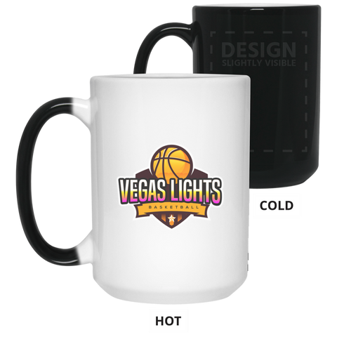 Vegas Lights 15 oz. Color Changing Mug Drinkware- Warrior Design Co. | Quality Affordable Branding Solutions