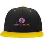 Moore Marketing High-Profile Snapback Hat Hats- Warrior Design Co. | Quality Affordable Branding Solutions