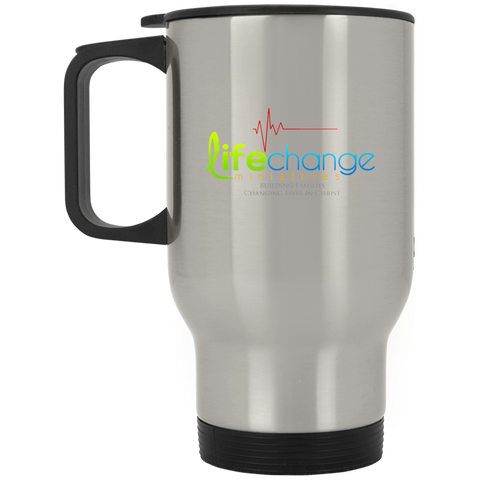 Life Change Silver Stainless Travel Mug Drinkware- Warrior Design Co. | Quality Affordable Branding Solutions