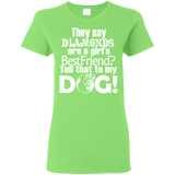 Dogs & Diamonds Women's T-Shirt T-Shirts- Warrior Design Co. | Quality Affordable Branding Solutions