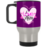 I Love My Mom  Silver Stainless Travel Mug Drinkware- Warrior Design Co. | Quality Affordable Branding Solutions