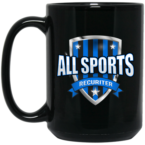 All Sports Recruiter  15 oz. Black Mug Drinkware- Warrior Design Co. | Quality Affordable Branding Solutions