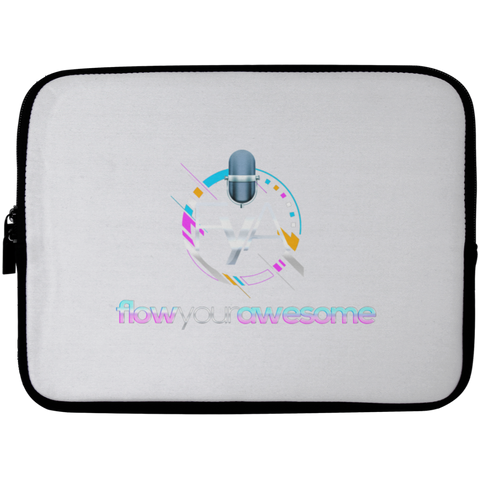 Flow Your Awesome Laptop Sleeve - 10 inch Laptop Sleeves- Warrior Design Co. | Quality Affordable Branding Solutions