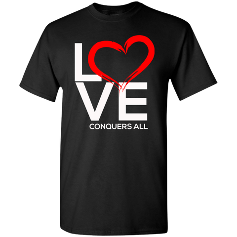 Love Conquers All Men's T-Shirt - Warrior Design Co. | Quality Affordable Branding Solutions