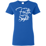 Walk by Faith Women's T-Shirt T-Shirts- Warrior Design Co. | Quality Affordable Branding Solutions